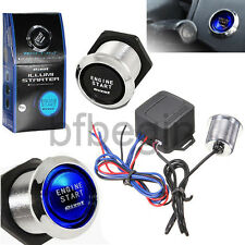 Universal 12V Blue LED Engine Car Start Push Button Switch Ignition Starter Kit