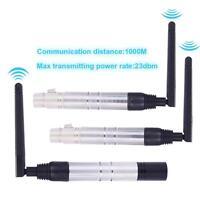 1000M Wireless 2.4G ISM DMX512 XLR Transmitter +2x Receiver for Stage Light W1L4