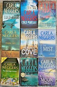 CARLA NEGGERS ROMANTIC SUSPENSE PAPERBACK 4 BOOK LOT ROMANCE FREE SHIPPING!