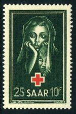 GERMANY (SAAR)-1951 Red Cross Fund Sg 301 UNMOUNTED MINT V10567
