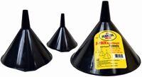 Pennzoil 3 Black Plastic Funnels Set for Auto-Car-Truck Gas-Oil-Liquid