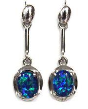 Australian Natural Black Triplet Opal Earring Opal 8x6mm Earring weight 12.075ct