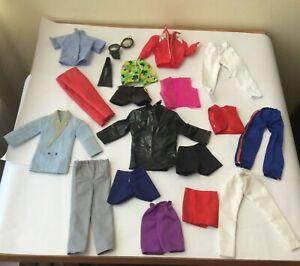 Bundle Lot of vintage Male dolls clothes items
