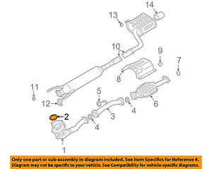 SUZUKI OEM 04-07 Aerio 2.3L-L4-Exhaust Pipe Gasket 1418165G00