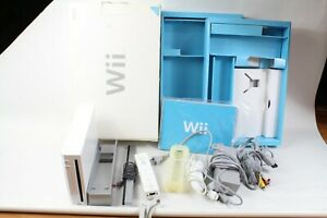 NINTENDO WII WHITE CONSOLE RVL-001 box CONTROLLER tested working japan