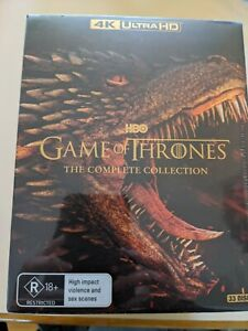 GAME OF THRONES COMPLETE Collection SERIES  1-8 oop 33 DISC 4K UHD new & sealed