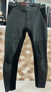 SCANLON &THEODORE Black Genuine Leather w/  Viscose Contrast Pants/Jeggings?  8