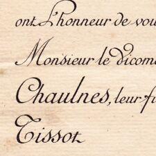 Adrien Guillaume De Fages De Chaulnes Paris 1892 Marie-Louise Octavie Tissot
