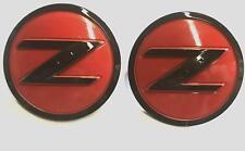 2X 350Z 370Z FairladyZ Side Red Black Fender Emblem Badge for Nissan 63890-CD10A