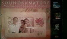 """NIB Sounds of Nature, Photo Frame With Soothing Sounds Of Nature  Holds 6"""" x 4""""."""