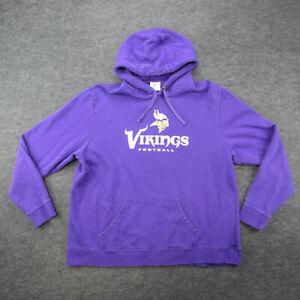 Minnesota Vikings Hoodie Men's Size 2XL Purple Pullover Hooded Sweatshirt *Note