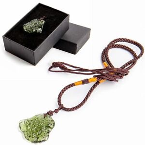 Green Natural Crystal Gem Moldavite Meteorite Glass-Necklace-Pendant Stone Decor