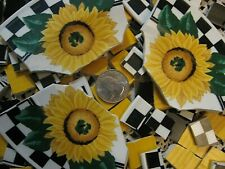 Tabletops Unlimited Sunny ~ Daisies ~ Broken Mosaic Plate Tiles