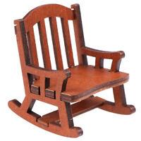 1:12 Dollhouse Miniature Wooden Rocking Chair Furniture AccessoriesVJUS