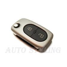 SILVER KEY COVER per Audi 2 Bottoni Caso Fob remoto PROTECTOR PAC SHELL AUTO 41S