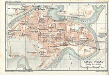 Carta geografica antica ASCOLI PICENO Pianta della città TCI 1924 Antique map