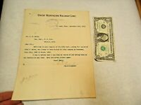 1904 Great Northern Railway to Pere Marquette Railroad Letter - in good shape