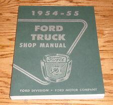 1954 1955 Ford Truck Shop Service Manual 54 55 Pickup F-100 F-250 Panel