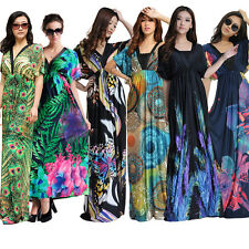 UK Plus Size Woman Summer Maxi Long Evening Party Dress L-6X UK 10-34 US 8-32