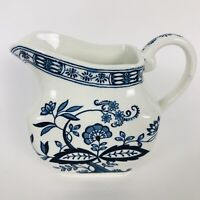 Vintage Blue Onion Enoch Wedgwood Made In England Creamer Pitcher Ceramic 3.5""