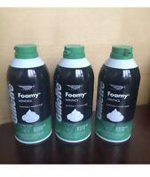 Gillette Menthol Foamy Shaving Cream Foam HTF Discontinued Close Shave 3 Pack