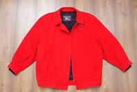 90s Burberrys Vintage Burberry Women's Red Wool Bomber Harrington Jacket Size 18