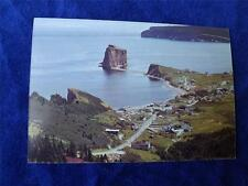 PRE STAMPED POSTCARD PERCE ROCK GASPE QUEBEC CANADA POST OFFICE