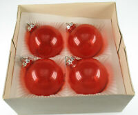 Alte Christbaumkugeln Weihnachten rot Glas - vintage glass tree decorations xmas