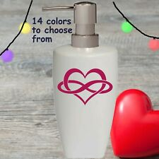 Infinity Heart Soap Lotion Pump dispenser Bathroom Kitchen Love Anniversary Gift