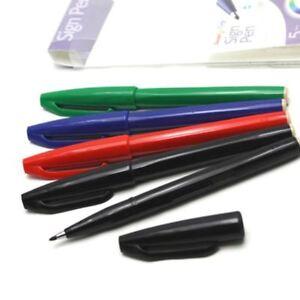 Pentel Sign Pens S520 Fibre Tip Marker  - Assorted pack of 5