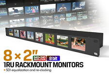 "Lilliput RM-0208S 8x2"" 1RU Rack Mount SDI equalization and re-clocking Monitor"