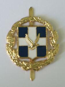 Greek Cypriot Military Army National Guard Cap Badge Original