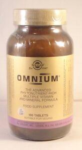 Solgar Omnium  Multiple Vitamin & Mineral Formula 180 Tablets BBE 09/2023