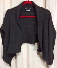 LA FEE MARABOUTEE France Open Front Shrug Cardigan Sweater Shawl Knit Womens' S