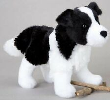 "MEADOW Border Collie stuffed animal plush 7"" black white dog Douglas Cuddle Toys"