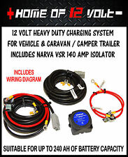 Heavy Duty 12Volt Vehicle & Caravan Charging system w Narva 140 Amp VSR isolator