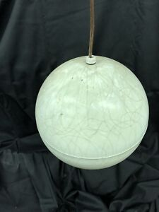 Midcentury Modern Metal Orb Light Fixture Globe Chandelier Spaghetti Funky Fun