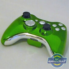 Xbox 360 Wireless Controller Official Custom Chrome Green & Silver Fast Dispatch