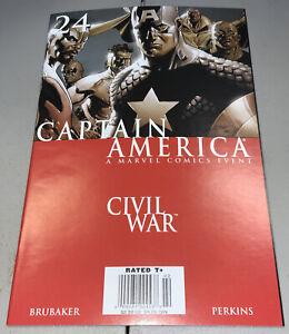 Captain America #24 Marvel 2006 Civil War Newsstand Variant