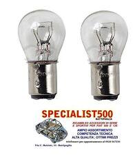 FIAT 500 F/L/R COPPIA LAMPADINE LUCE STOP FANALINI POSTERIORI BAY15D P21/5