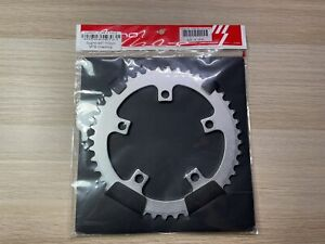 Sugino 44T x 110 mm BCD 5-Bolt Chainring, Anodized Silver