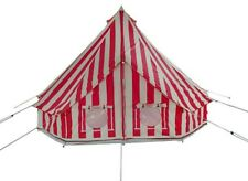 4m 'Summer Fete' Striped Bell Tent -Zipped In Ground Sheet by Bell Tent Boutique