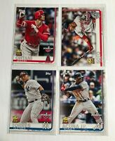 2019 Topps Opening Day Rookie Cup (4x Card Lot) Soto, Acuna Jr., Torres, Ohtani