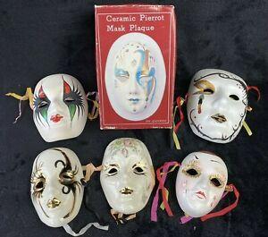 6 Vintage decorative Ceramic wall masks