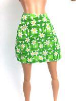 Barbie Doll Basic Skirts Blue Green Floral Lot Of 2 Vintage Fashion Pack Rare