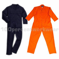 Warrior Flame Retardant Overall Boiler Suit Coverall Welding Navy Blue or Orange