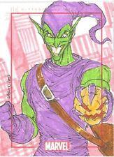 Marvel 75th Anniversary Rainier Lagunsad SketchaFEX Sketch Card Of Green Goblin