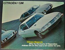 1972-1973 Citroen SM Sales Brochure Folder Maserati Nice Original