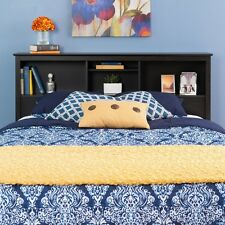 Prepac Riverdale Double / Queen Bookcase Headboard- Washed Black HSH-6643-V NEW