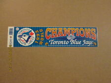 MLB Blue Jays Rare 1993 World Champions Bumper Sticker